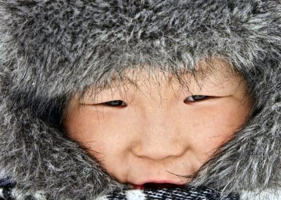 A young nomadic reindeer herder in udakan mountains. Trans-Baikal Territory