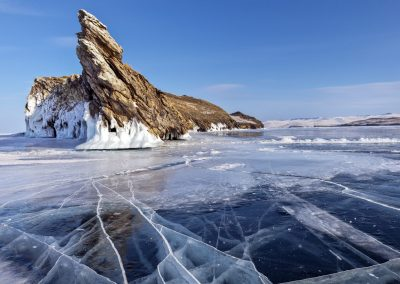 Small sea. Lake Baikal. Irkutsk region
