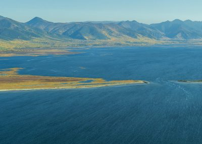 The mouth of the Kichera river. The North of Lake Baikal.The Republic of Buryatia