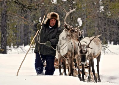 A Daily life of nomads in Udokan Mountains area. Trans-Baikal Territory
