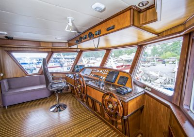 Сaptain's cabin, the Guberniya yacht