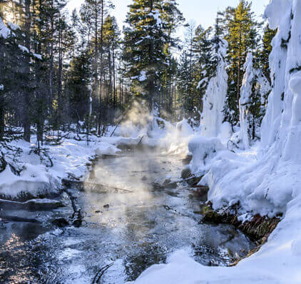 Hot springs lake baikal